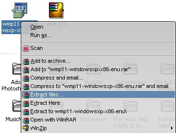 how to open rar file in windows media player