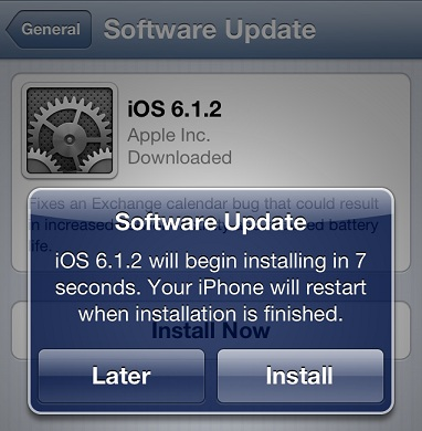 iOS 6.1.2 update now available