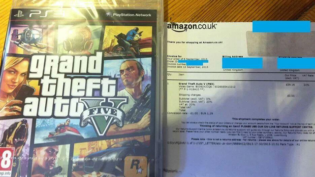 GTA 5 early arrival from Amazon.co.uk