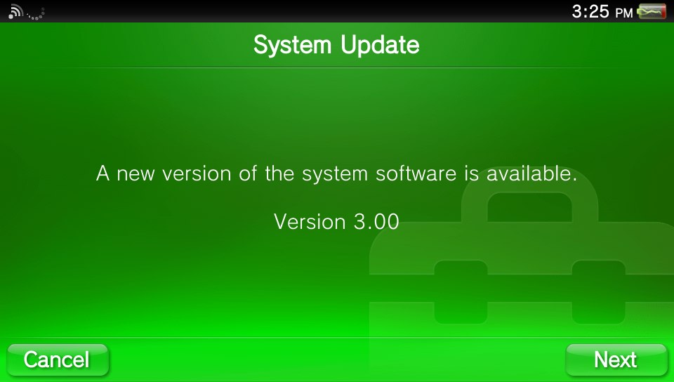 PS VITA Firmware 3.00 Update