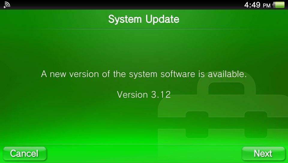 PS Vita Firmware 3.12
