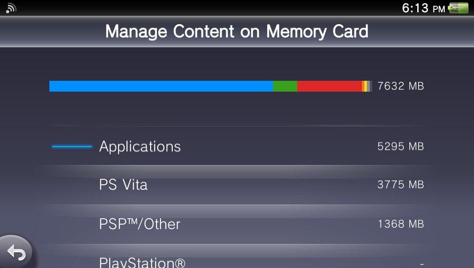 PSVita Memory Card Manager