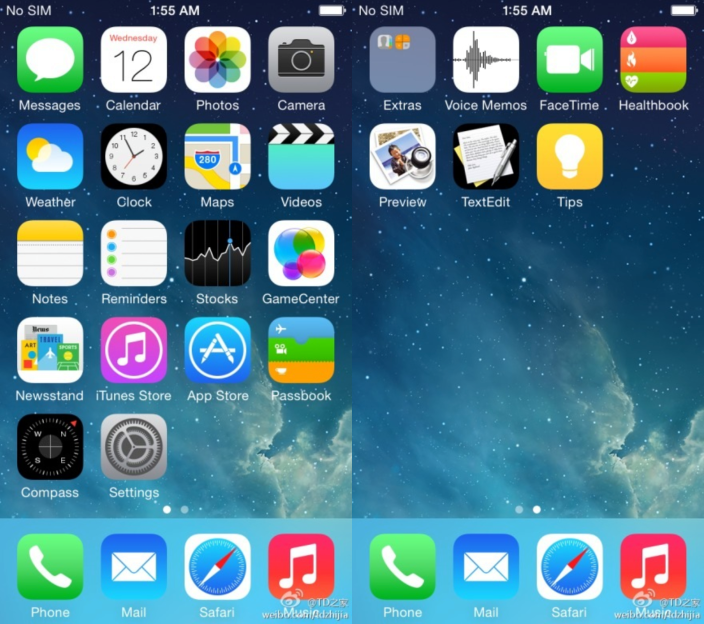 iOS 8 screenshot leaked