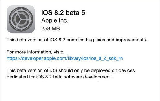 iOS 8.2 Beta now available
