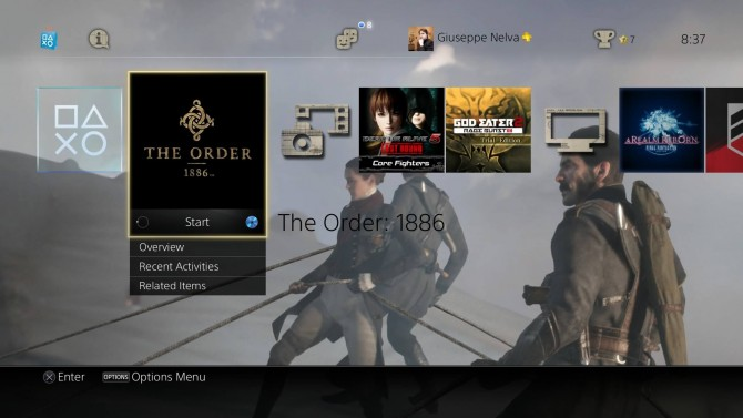 PS4 Dynamic Theme The Order: 1886 is free on the European PlayStation Store
