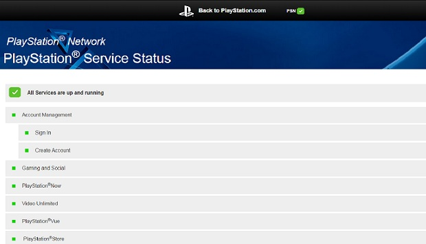 Sony has finally launched an Official PlayStation Network Status Page