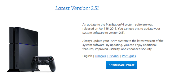 PS4 Firmware Update 2.51 surfaces, then removed by Sony