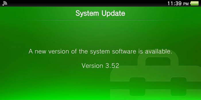 PS Vita Firmware 3.52 now available