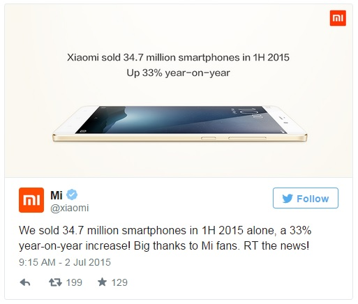 Xiaomi sales at a record high but still miss target