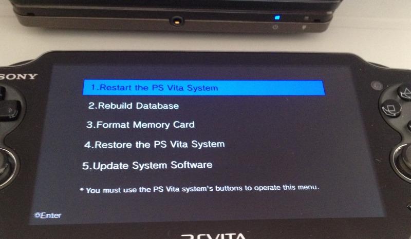 PS Vita - Safe Mode